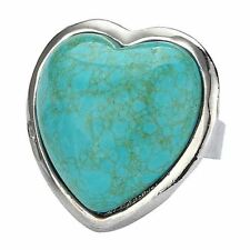 Heart Turquoise Stone Costume Rings