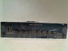 KRAMER VS-81A 8X1 AUDIO STEREO SWITCHER INPUT SELECTOR 21-0390099