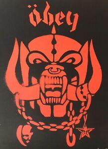 SHEPARD FAIREY OBEY 2002 S/N Motörhead Red Screen Print, BANKSY, KAWS, RETNA