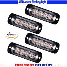 4x 4LED Strobe Light Flashing Hazard Beacon Warning Car Truck ATV SYV Amber CD