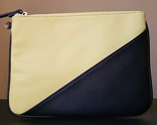 NWOT Nine West Table Treasures Pouch Clutch Handbag Black/Yellow 5 MSRP $50