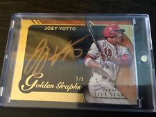 2017 Topps Five Star Golden Graphs Joey Votto HUGE ON CARD GOLD AUTO! SSP #'3/5