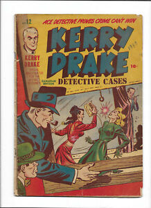 KERRY DRAKE DETECTIVE CASES #12 [1948 GD+] CANADIAN EDITION!