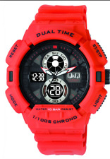 Original Analog Digital Watch Q&Q GW81J005Y Sport Mens 100m Dual Time