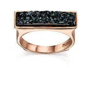 Fiorelli Fashion Rose Gold Plated Black Crystal Square Top
