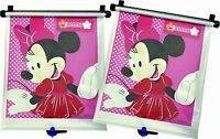 DISNEY TOMY UNIVERSAL CAR SHADES REAR WINDOW (Minnie Mouse) (Mesh Material) 2 pk