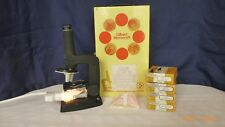 Vintage Gilbert Microcraft Microscope Storage Cabinet and Slides Collectible