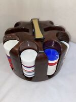 Vtg 194-50's Crisloid USA Lazy Susan Poker Chip Caddy Holder Casino Card Game