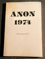 Warren Jay HECHT ANON 1974 Eighth Annual Anthology of Fiction & Poetry 1st Ed.