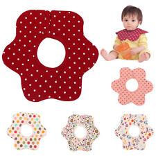 Baby Infants Newborn Cute Floral Dots Print Flower Shape Cotton Feeding Bib Cool