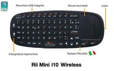 Rii Mini i10 Wireless - Tastiera con mouse touchpad per Smart TV, Mini PC, PC