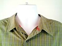 The North Face Mens Gray/Green Tattersall Long Sleeve Shirt Button Front Size XL