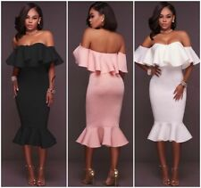 Stretch Sleeveless Off the Shoulder Dresses for Women