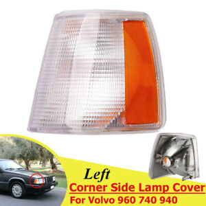 1x Front Left Driver Corner Light Turn Signal Lamp Cover Fit Volvo 740 940 960