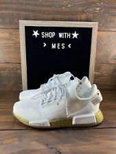Adidas Womens NMD_R1.V2 Cloud White/Gold Boost Shoes FW5450- NEW