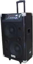 12V Rechargeable Portable Active PA Sound System with Bluetooth,  200 Watts RMS