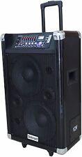 12V RICARICABILE PORTATILE ATTIVO PA Sistema Audio con Bluetooth, 200 WATT RMS