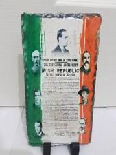 1916 Proclamation Irish Republic Slate - Republican Rebel Rising Signatories