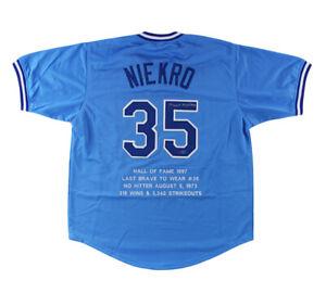 Phil Niekro Signed Atlanta Custom Stat Powder Blue Jersey