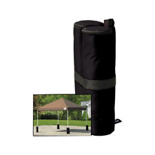 T 4 * Black Durable Tent Leg Weighted Sandbags for Parasol/Canopy/Beach Shelters