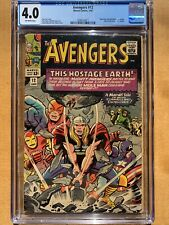 Avengers #12 - CGC 4.0 - Mole Man & Red Ghost Appearances - Classic Thor Cover
