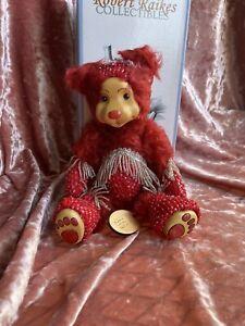New Robert Raikes Ruby July Birthday Bear 2001 LE 250