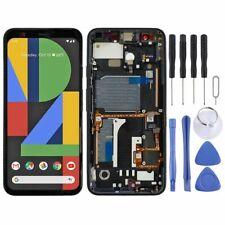 Para Google píxeles 4 oled pantalla LCD táctil con marco de sustitución de reparación negro
