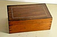 Best Antique Inlaid Dovetailed Wood Wooden Document Trinket Box