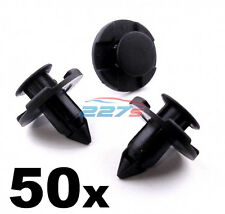 50x 8mm Plastic Trim Clips for Nissan Wheel Arch Liners / Engine Bay Shields -