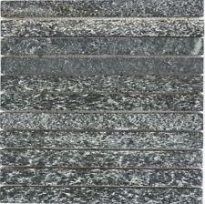 Mosaik Stäbchen Quarzit schwarz/anthrazit Fliesenspiegel Art: 36-0307 | 10Matten