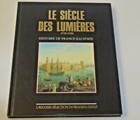 ANCIEN LIVRE HISTOIRE DE FRANCE ILLUSTREE LE SIECLE DES LUMIERES 1715 1789