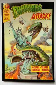 Dinosaurs Attack! #1 Eclipse Comics 1991 Gerani Trimpe Freeman VFN