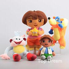 4X Dora The Explorer Diego Swiper Fox Boots The Monkey Plush Toy Soft Doll Cute
