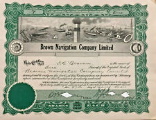 Brown Navigation Company > Quebec, Canada 1926 stock certificate share