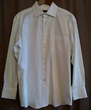 Ben Sherman White Dress Shirt Woven Textured 16 32 33 Long Sleeve