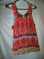 Heart Soul Multi-Color Print Polyester Sleeveless Chiffon Blouse Size S Juniors