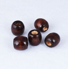 Big Hole Coffee Wood Round Beads Charm Necklace Jewelry Findings Spacer Bead16mm