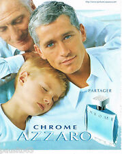 PUBLICITE ADVERTISING 065  2000  AZZARO  eau de toilette homme CHROME