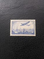 France #C12 MNH, 1936 3fr Ultramarine Airmail,   Scott Catalog Value  $ 37.50