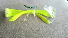 LADIES LIME GREEN CRYSTAL SAFETY  GLASSES