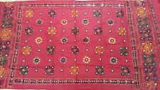 Pink New Indian Dupatta Cotton Hijab Wraps Kutch Embroidered Long Veil Scarf