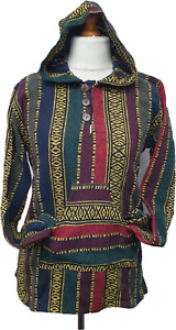 Warm Heavy Cotton Hoodie Hoody Jumper Surf Hippy Pullover Top Unisex Multicolour