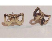 Gold Bow Ribbon Novelty Earrings Costume Jewellery Stud