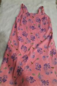 Fresh Produce Dress Coverup Pink with Purple Flowers Sleeveless Womens Size XL