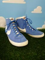 Nike Blazor Mid Blue Suede Trainers Size 5