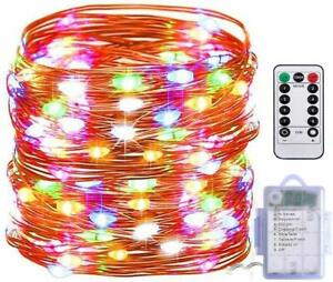 FSTgo 200 LED Battery Operated Light Chirstmas Light with Remote Control Battery