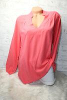 Italy Shirt  Long puder Tunika Bluse Gr. 36 38 40 42 blogger koralle blogger