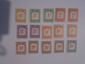 Seychelles postage dues all values  collection 2