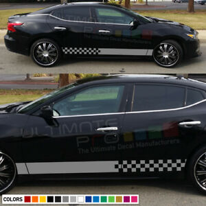 Stripes Decal kit for Nissan Maxima Side CARBON light mirror lip tune head cover