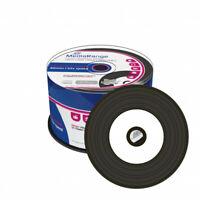 CD-R VINYL Inkjet Printable BLACK DYE 52x 700MB MEDIARANGE 50 PZ. MR226